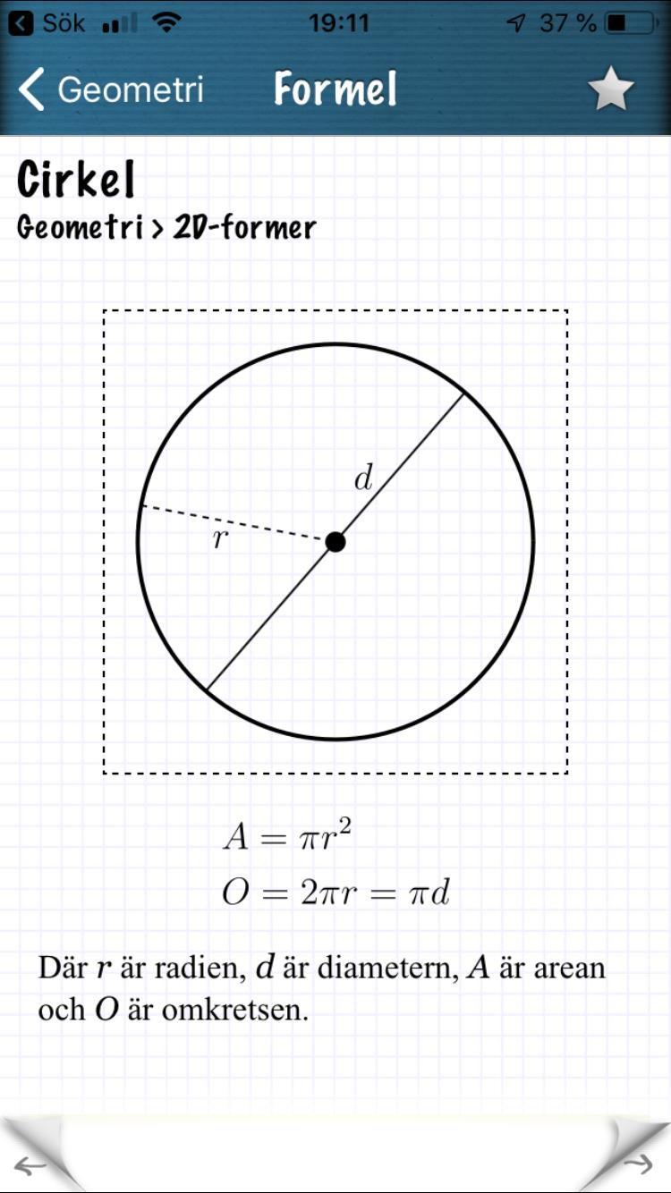 Räkna ut arean på en cirkel