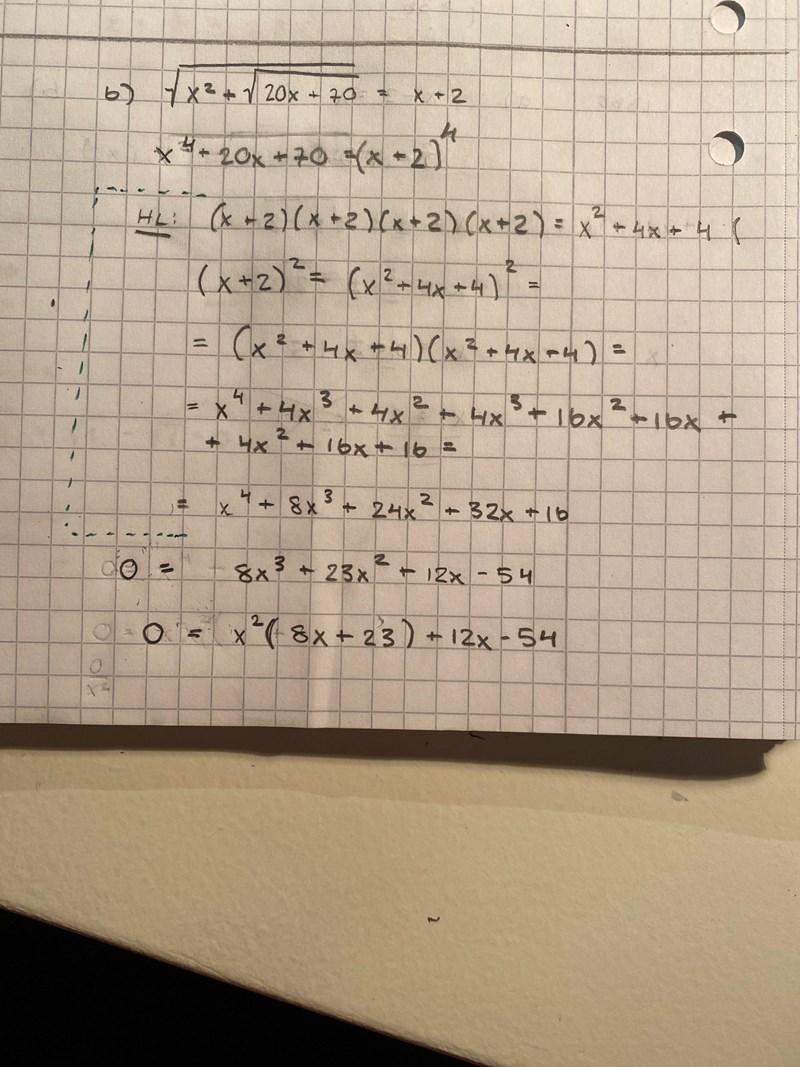 Pq-formeln tredjegradsekvation? Alt göra om ...